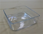 "Square Glass vase 12""x12""x4""h"