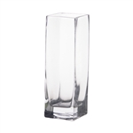 Square Glass Vase 3x3x6