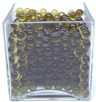 Round Glass Marbles - Amber (4.4lb bag)