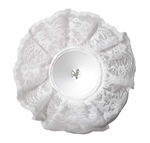 "9"" LOMEY® Bouquet Collar, White Lace, 24/case"