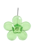 LOMEY™ Retro Flower Pin, Apple Green, 200/case