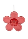 LOMEY™ Retro Flower Pin, Red, 200/case