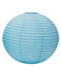"12"" Paper Lantern (Pack of 24) - Aqua Blue"