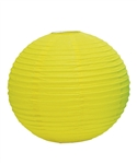 "12"" Paper Lantern (Pack of 24) - Lemon Yellow"