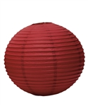 "12"" Paper Lantern (Pack of 24) - Ruby"