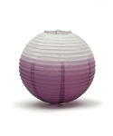 Ombre Colored Round Paper Lanterns (Pack of 24) - Purple, 12""
