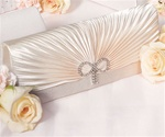 Classic Rouching and Crystal Bow Evening Bag