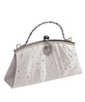 Vintage Style Evening Bag (White Satin)
