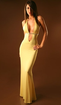 Temptation - Backless halter dress by Kamala Collection