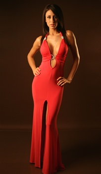 Venus - Halter flare gown by Kamala Collection