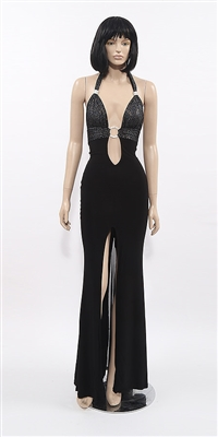 Venus - Halter flare mesh gown by Kamala Collection