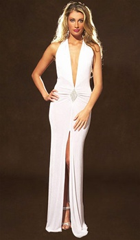 Diamante - Halter dress with rhinestone diamond by Kamala Collection