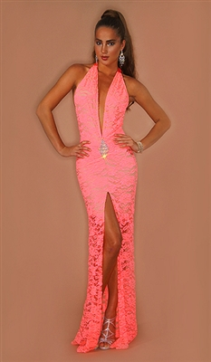 Diamante - Lace alter dress with rhinestone diamond by Kamala Collection