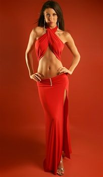 Jordana - Halter dress by Kamala Collection Sexy Evening Gowns