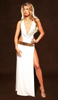 Mykonos - Greek goddess cowl dress by Kamala Collection Sexy Evening Gowns