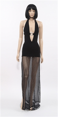 Trouble - mesh skirt halter dress by Kamala Collection