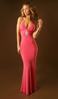 Estelle - Strap  halter prom gown by Kamala Collection
