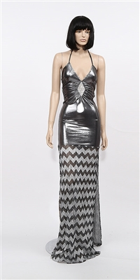 Estelle - Strap glitter halter dress by Kamala Collection