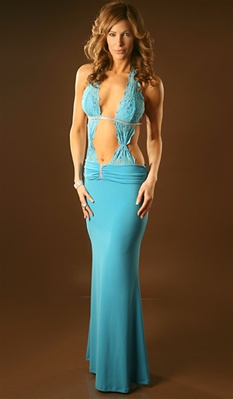 Centerfold - Lace halter dress by Kamala Collection Sexy Evening Gowns