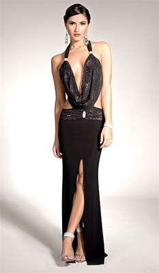 Chelsea - Cowl dress by Kamala Collection Sexy Evening Gowns
