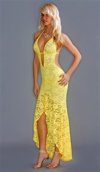 Lace Cha-Cha halter dress