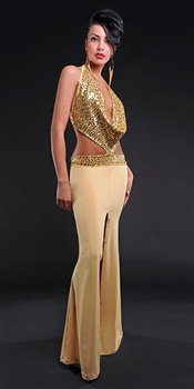 Nikita - Sequin cowl dress by Kamala Collection