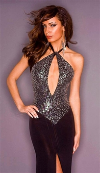 Shelly - Sequin keyhole dress by Kamala Collection