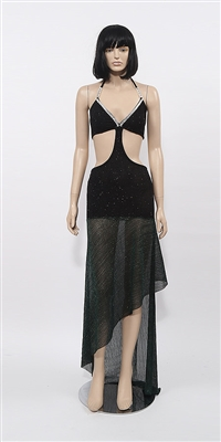 Brooke - Glitter slinky mesh dress by Kamala Collection
