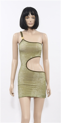 Serpentino short one-shulder dress by Kamala Collection Clubwear