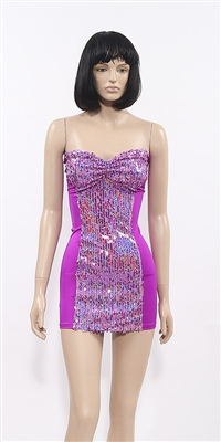 Cherokee short sequin tube dress by Kamala Collection Clubwear