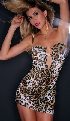 Jagger - Leopard print mini tube dress