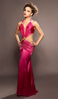 Red Carpet - Silk dress by Kamala Collection Sexy Evening Gowns