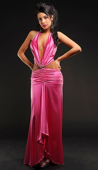 Stephanie - Silk gown by Kamala Collection