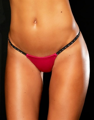 Electra - rhinestone elastic g-string by Kamala Collection Sexy Lingerie