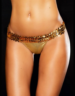 Carnival - Wide sequin band g-string by Kamala Collection Sexy Lingerie