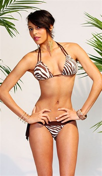 Zebra bikini by Kamala Collection Swimwear