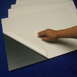 "Walker Self-Stick Adhesive Foam Board 3/16"", Black 20"" x 30"" (10 boards)"