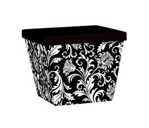 Black/White Damask Box of 12
