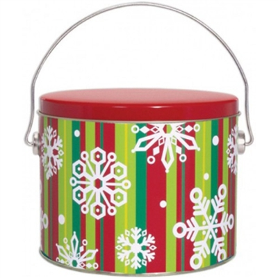 12 piece Stripes and Flakes Cookie Pail