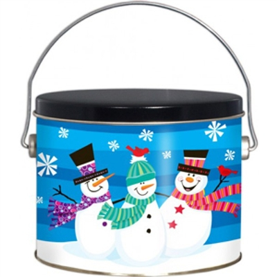 12 piece Whimsical Snowmen Cookie Pail