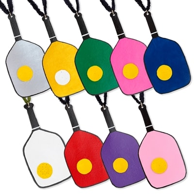 Leather Pickleball Paddle Ornament