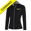Heritage Leader Jacket for women by Antigua, black with heritage logo in safety yellow and silver stitching. Sizes S-2XL