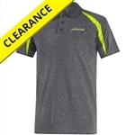 Fusion Polo Shirt for men, heathered gray with yellow contrast, sizes S-2XL