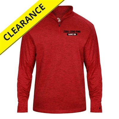 1/4-zip Pullover for men, graphite or red tonal blend, sizes S-3XL