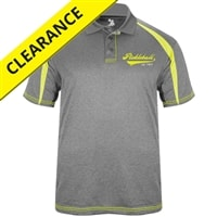 Heritage Polo Shirt for men, heathered gray with yellow contrast, sizes S-3XL