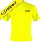 Referee Tee for men. Sizes M-3XL, safety yellow