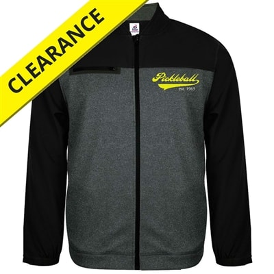 Heritage Jacket for men, carbon heather with black shoulders, sizes S-3XL