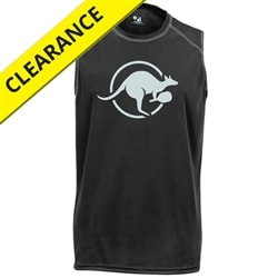 Kanga Sleeveless Tee for men. Sizes S-3XL, black