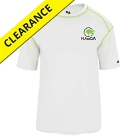 Kanga Core Tee for men. Sizes S-3XL, white, black, lime