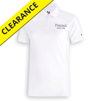 Sport Polo Shirt for women, S-2XL, white